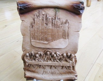 Milan Cathedral Last Supper Memorabalia Collectible One tiny fleabite top right beautiful overall condition