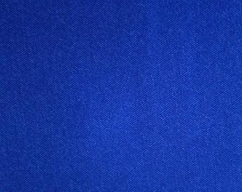 "Royal Blue Polyester Satin Fabric 60"" Wide Per Yard"