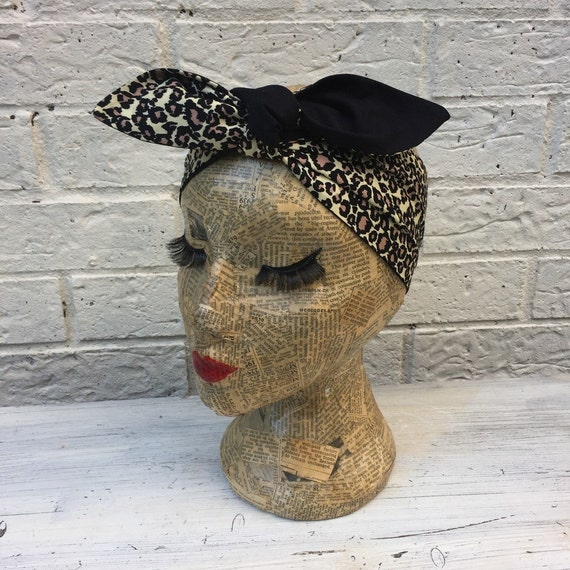 Cheetah Leopard Print Headacarf Rockabilly Pinup inspired