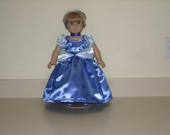 American girl doll Cinderella dress