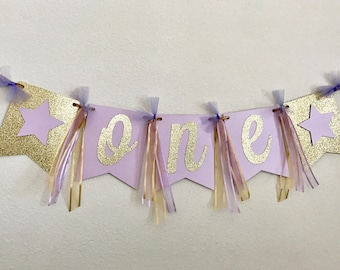 First Birthday Party Decorations, High Chair Banner, ONE High Chair Banner, First Birthday Banner, Name High Chair Banner,