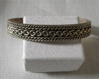 Native American Sterling Silver Cuff - 7.5 inch and marked 925