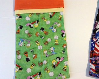 Charlie Brown Pillowcase,Monogrammed Pillowcases,Gender neutral ,Monogram  is included in price.,Bedding for kids,