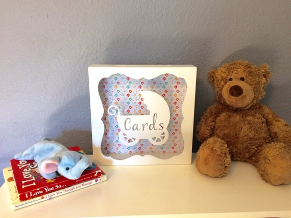 card box baby shower card box card holder gift card box new