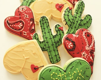 Valentines Day / Stuck on you / Cactus Sugar Cookies with Buttercream Frosting