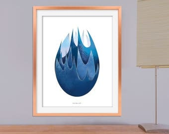 Goblet of Fire Poster, Printable Harry Potter Poster, Harry Potter and the Goblet of Fire Art, Printable Harry Potter Wall Decoration