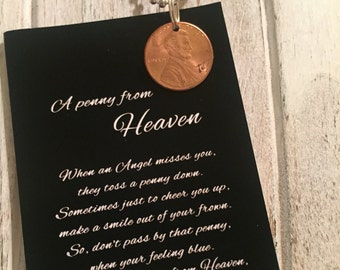 SALE Penny from Heaven necklace with poem