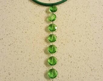 Green Crystal Lia Wrap Choker