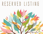 Reserved Listing for Jenna