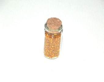 Jewellery Making Seed Beads-30g Bright Yellow seed beads-small glass bottle-New