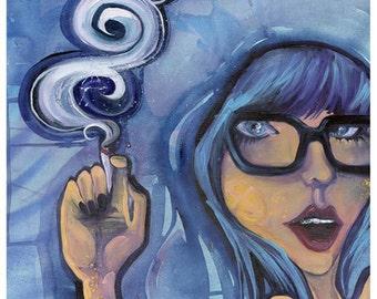 "Smoke Screen - Original Painting - Acrylic on Canvas - 16x20"""