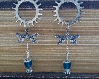 Steampunk with a Dragonfly earrings