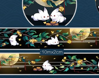 1 Roll of Limited Edition Washi Tape- Moon and Rabbit