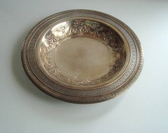 Silver plated decorative bowl