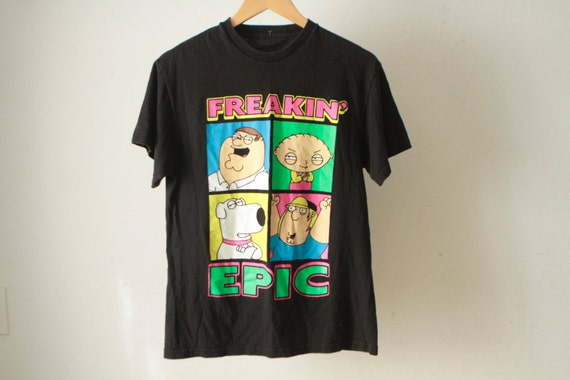 FAMILY GUY 90s rare official baby BLACK small t shirt