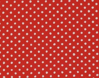 Vintage Hallmark All-Occasion Wrapping Paper - Gift Wrap - Red with White POLKA DOTS - 1970s