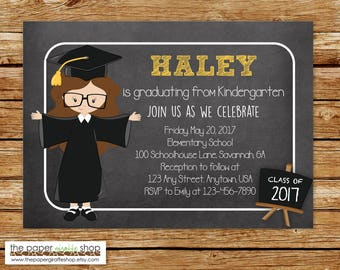 Kindergarten Graduation Invitation | Graduation Invitation | Preschool Graduation Invitation | Graduation Party Invite | End of School Year