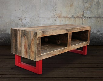 TV Stand, Media Console, Reclaimed Wood Modern