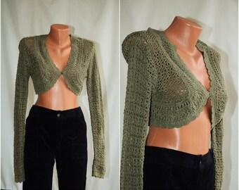Vintage Cotton Vest/Cardigan,  size M-L / 36-38 /