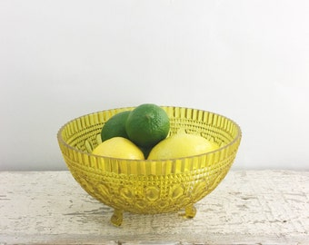 Awesome Yellow Plastic Footed Bowl