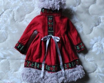 "Ooak Blythe dress by Iriscustom "" Russian Charm  """