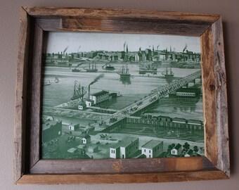 Toledo 1876 Abstract Historic Print - Unframed