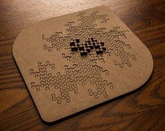 17 Piece Lasercut Fractal Jigsaw Puzzle