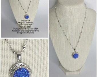 Blue Snap Interchangeable Necklace