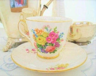 Lovely Duchess Floral Tea Cup