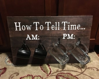 How to tell time wood pallet sign