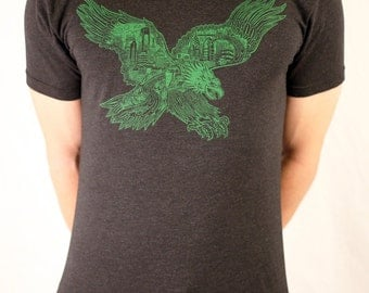 FREE SHIPPING Philadelphia Eagle -- Paul Carpenter Art -- Unisex Philly Artist Print Tee Shirt
