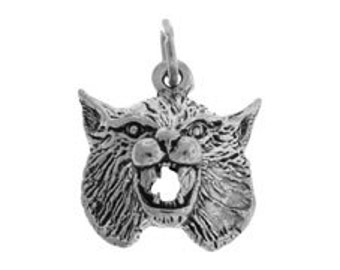 Sterling Silver 14x14mm Bobcat Charm (sku 1815 - CHSS-AN-BOBCAT)
