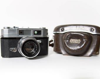Taron MX aka Taron III 35mm Rangefinder Camera 1950s Original Leather Case