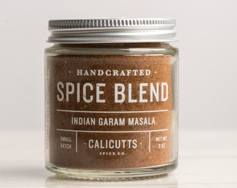 Indian Garam Masala - Handcrafted Spice Blend - 2 ounces in Glass Jar, All-Natural and Gluten Free