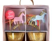 I Believe In Unicorns Cupcake Kit - unicorn birthday rainbows party