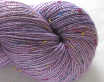 Hand-Dyed Sock Yarn - Happy Tweed  - Rosey Grier