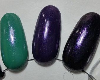 Amethyst Violet Purple Shimmer Sparkle Effect Gemstone Top Coat Nail Lacquer Indie Starlight and Sparkles Polish