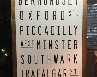 London- Painted Wooden Sign
