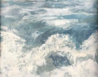Splash, SALE, encaustic painting