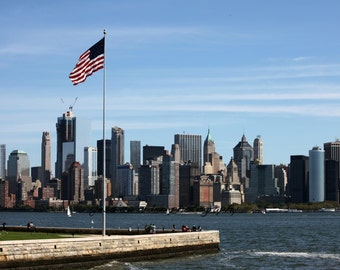 New York Skyline, Seen from Ellis Island