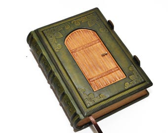 Leather journal, secret diary, book of secrets, Fairy tale -A Fairy's dream  8.2''x6'' (21x15 cm), OOAK leather journal, blank diary