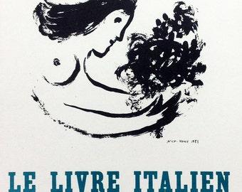 "Chagall 19 ""Chagall le livre contemporain"" printed 1959 Mourlot Art in posters"