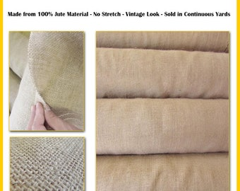 "Natural Burlap Fabric 10 Yards 14"" Width Hessian Fabric Craft Sack Wreath Hammock Table Runner Decorations Jute"