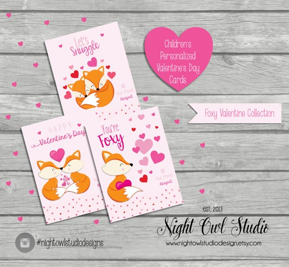 Valentine S Day Cards Children S Valentine Cards Personalized