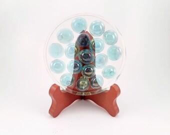 Blue Glass Bead Handmade Resin Coaster FI0283