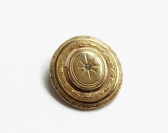 Vintage Starburst Pin, Spinner, Precious Pictures Pin, Locket Pin, Designer Avon, Circa 1980's
