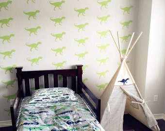 T Rex stencil, Dinosaur kids room, dinosaur décor, dinosaur bedroom wall stencil, painting stencils, wall stencils, kids bedroom décor