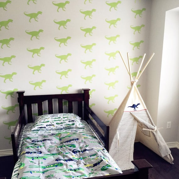 T rex stencil dinosaur kids room dinosaur d cor dinosaur for T rex bedroom decor