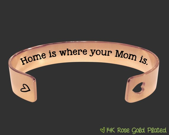 Rose Gold | Mothers Day Gift | Mothers Day | Gift for Mom | Mother's Day Gift | Mother | Mom Gift | Home is where your Mom is | Korena Loves