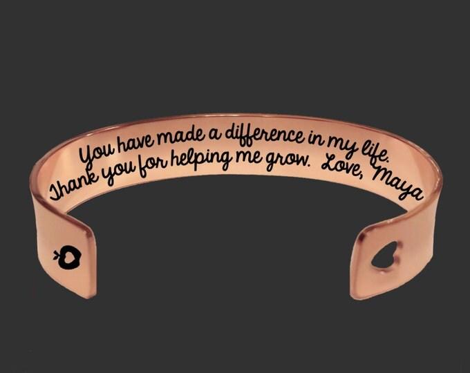 Teacher Gift   Gift for Teachers   Daycare Gift   Babysitter Gift   Nanny Gift   Thank you for helping me grow Korena Loves